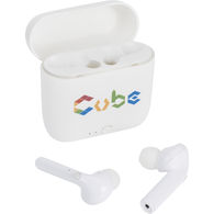 Bluetooth Earbuds With Built-In Microphone and Charger Case - GOOD