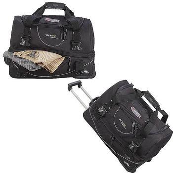"""22"""" High Sierra&reg Polycanvas and Nylon Rolling Duffel Bag"""