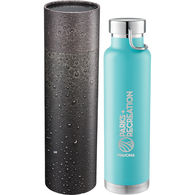 *NEW* 22 oz Stainless Steel Vacuum Insulated Hot/Cold Bottle with Handle Loop in Cylindrical Box