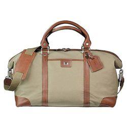 """19"""" Cutter & Buck&reg Cotton and Leather Weekender Duffel Bag"""
