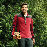 *NEW* Quick Ship MEN'S Roots73™ Microfleece Jacket with Colorblocking and Thumbholes