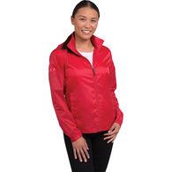 *NEW* Quick Ship LADIES' Packable Hooded Lightweight Wind & Water Resistant Full-Zip Jacket (Good)