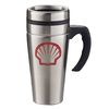 16 oz. Meridian Travel Mug - Silver with Stainless Steel Liner