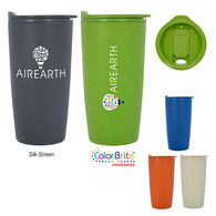 *NEW* Renewable And Sustainable Wheat Straw Plastic  20 oz Travel Tumbler