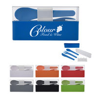 *NEW* Renewable And Sustainable Wheat Straw Plastic Utensil Set in Deluxe Travel Case