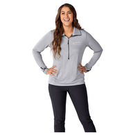 *NEW* Quick Ship LADIES' 47% Recycled Poly Knit Half-Zip Pullover
