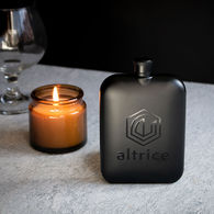 *NEW* Upscale Matte Black Finish Flask