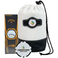 *NEW* Value Golf Kit Includes Callaway Ball & Plastic Poker Chip Marker in a Faux Leather Pouch