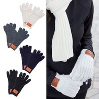 *NEW* Rib Knit Gloves with Decorated Patch