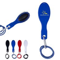 *NEW* Hair Brush with Rubber Band and Carabiner