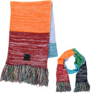 *NEW* Rainbow Fringed Scarf with Decorated Patch