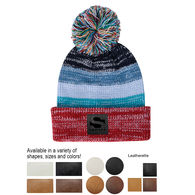 *NEW* Rainbow Knit Beanie with Decorated Patch