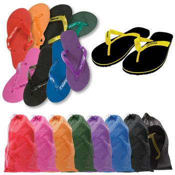 Basic Flip Flop Sandal with Single Layer Sole – Strap Imprint