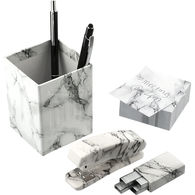 *NEW* 5-Piece Faux Marble Desk Accessory Gift Set