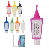 1 oz Hand Sanitizer - 62% Ethyl Alcohol - in Colorful Silicone Clip Case