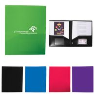 *NEW* 2-Pocket Poly Folder with Business Card Slots