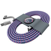 *NEW* USB Cable with Type-C Adapter with Full Color Printing and Custom Cable Tie
