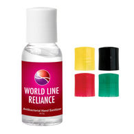 *NEW* 1 oz Hand Sanitizer Bottle with Colored Caps and Full Color Label
