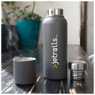 16.9 oz Matte Finish Stainless Steel Thermal Bottle with Ultra Strong Magnetic Cup/Cap - BEST VACCUUM-INSULATED