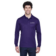 Men's Long-Sleeve Moisture-Wicking Pique Polo