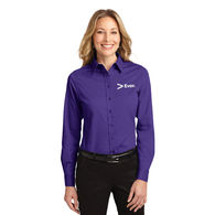 Ladies' Solid (30+ colors!) Button-Down Easy Care Shirt