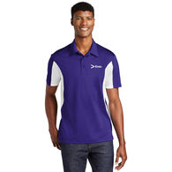 Men's Moisture-Wicking Polo with Side Blocks