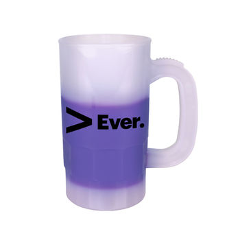 14 oz. Plastic Stein Changes Colors when Cold Liquids are Added
