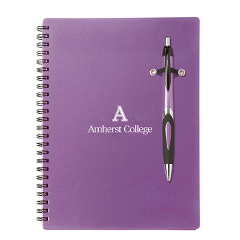 """6.25"""" x 8.5"""" Spiral Journal with Imprinted Pen"""