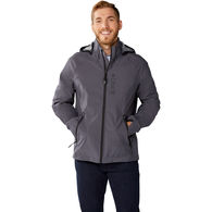 *NEW* Quick Ship MEN'S Waterproof and Breathable Soft Shell Hooded Jacket with Graphic Camo Pattern Interior