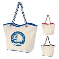 *NEW* 8 oz Laminated Cotton Tote Bag with Rope Handles