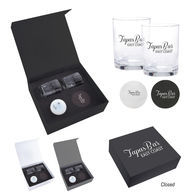 *NEW* Whiskey Set with Glasses, Ice Sphere Mold, and Coasters