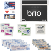 *NEW* Personal First Aid Safety and Wellness Kit Bandages, Antiseptics, and More