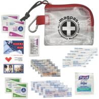 *NEW* First Aid Safety and Wellness Kit with Bandages, Disinfectants, Ointment, First Aid Guide, and More