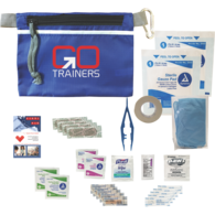 *NEW* Grab-N-Go First Aid Safety Kit with Bandages, Antisepctics, Ointment, First Aid Guide and More