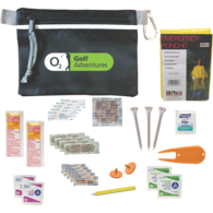 *NEW* Practical Golf Safety and Wellness Kit with Sunscreen, Tees, Bandanges, Ball Markers and More