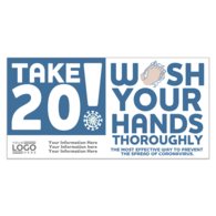 *NEW*  Wash Your Hands Stickers with Stock Imprint and Your Logo - 4