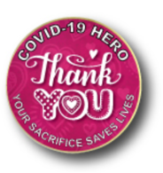 *NEW* COVID-19 Thank You Lapel Pin - Pink