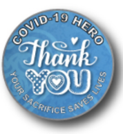 *NEW* COVID-19 Thank You Lapel Pin - Blue