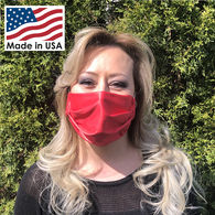 1-Ply Microfiber Mask with Elastic Ear Straps - Full Color, All-Over Printing, Made in USA