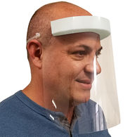 *NEW* Plastic Face Shield with Ventilated Design Reduces Fogging - MADE IN THE USA (100 Min) - Unimprinted