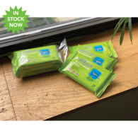 30-Wipe Antibacterial Hand Wipes for Disinfecting Your Skin - Three 10-pack Pouches Per Box - Unimprinted - IN STOCK NOW!