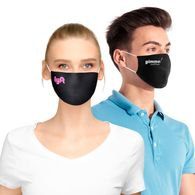 2-Ply Cotton Face Mask with Pocket for Filter Insert, Elastic Ear Straps, 1-Color Imprint on Cheek