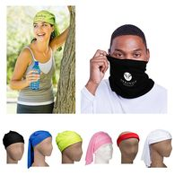 Tube Bandana/Face Covering, Solid Color - 1-Color Imprint