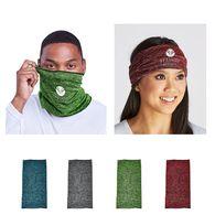 Tube Bandana/Face Covering, Heathered Fabric- 1-Color Imprint