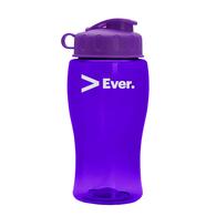 18 oz. Transparent Bottle with Flip Lid  (BPA-Free)