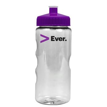 22 oz Transparent Dishwasher-Safe Mini Mountain Bottle (BPA-Free)