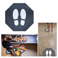 Social Distancing Floor Mat with Stock Graphic