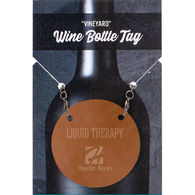*NEW* Leather Wine Bottle Tag