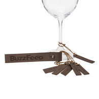 *NEW* Leather Wine Glass Charms (Set of 6)