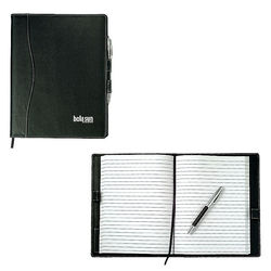 "7"" x 9"" Bound Refillable Journal with Faux Leather Cover"